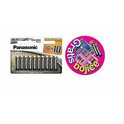 PANASONIC baterije LR6EPS/20BW 10+10F + kreativni set za boj