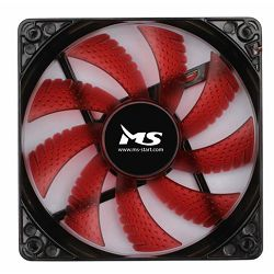 MS PC COOL 12cm crveni LED ventilator za kućište