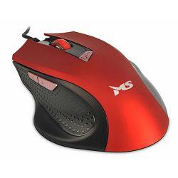 MS WAVE 2 žičani miš, crveni