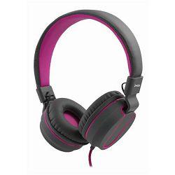 MS FEVER 2 slušalice s mikrofonom, sivo-roza