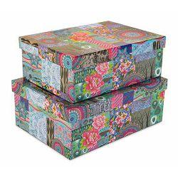 Kutije set 2 kom 30*22*11.5/28*20*10 cm indian sorto