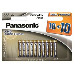 PANASONIC baterije LR03EPS/20BW 10+10F