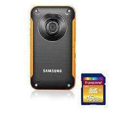 SAMSUNG kamera HMX-W300YP + 8GB SD kartica
