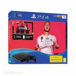 GAM SONY PS4 1TB F chassis + FIFA 20 +FUT 20 VCH + PS Plus 1