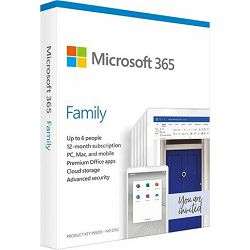FPP Microsoft 365 Family 1Y Medialess P6 ENG, 6GQ-01150