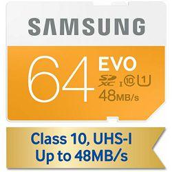 Memorijska kartica Samsung SD 64GB EVO up to 48MB/S