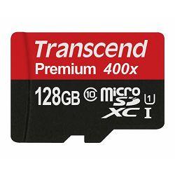 Memorijska kartica Transcend SD MICRO 128GB HC Class10 + SD