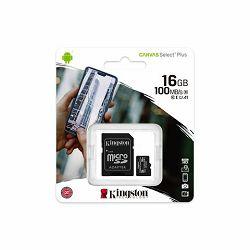 Memorijska kartica  Kingston SD MICRO 16GB Class 10 UHS-I  P