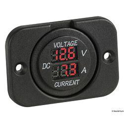 Digitalni voltmetar 8/32 V & ampermetar 0/10 A, Osculati 1451725