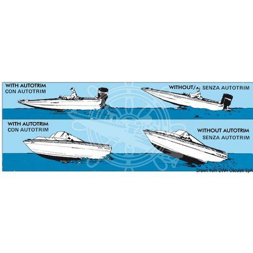 """Flaps - korektor opterećenja """"Auto Trim"""", za plovila do 6m, Osculati 5164000"""