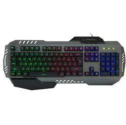 Gaming tipkovnica RAMPAGE KB-R79, pozadinsko osvjetljenje, HR tipke, metalna