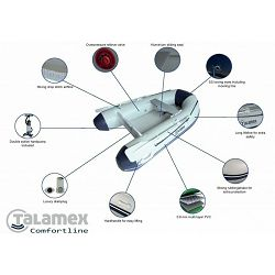 Gumeni čamac TALAMEX Comfortline AIR-floor TLA230