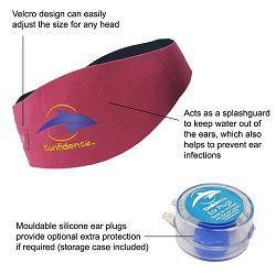 Konfidence AquaBand traka za uši sa čepićima (za djecu)