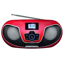 MANTA BBX005 CD player, FM, USB, MP3, LCD, DC + baterije, crveni