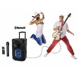 MANTA prijenosni zvučnik-karaoke set SPK5021, FM, Bluetooth, disco RGB, daljinski, mikrofon, baterija
