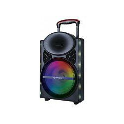 MANTA prijenosni zvučnik-karaoke set SPK5024 , FM radio, karaoke,  gitara, disco RGB ef, daljinski, mikrofon, baterija