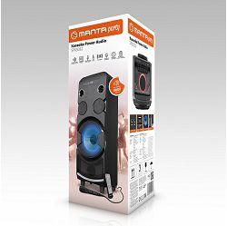 MANTA prijenosni zvučnik-karaoke set SPK5032, FM, disco svjetlosni efekti, daljinski, mikrofon, baterija