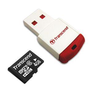 Memorijska kartica Transcend SD MICRO 4GB HC Class 4 + SD ad