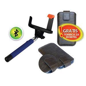 MS BT SELFIE štap plavi + MS STYLE 5 torbice za mobitel GRA