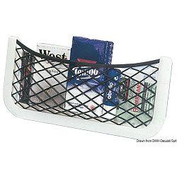 Nosač s elastičnom mrežicom za držanje predmeta i dokumenata, Osculati 48.434.03