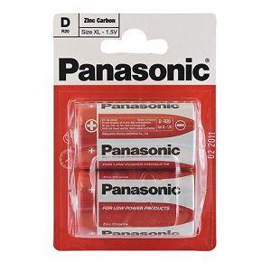 PANASONIC baterije R20RZ/2BP EU Zinc Carbon
