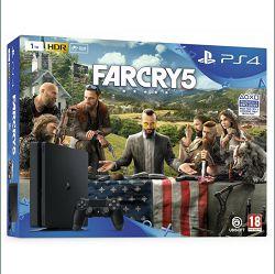 Playstation 4 (PS4) Slim 1TB + igra Far Cry 5