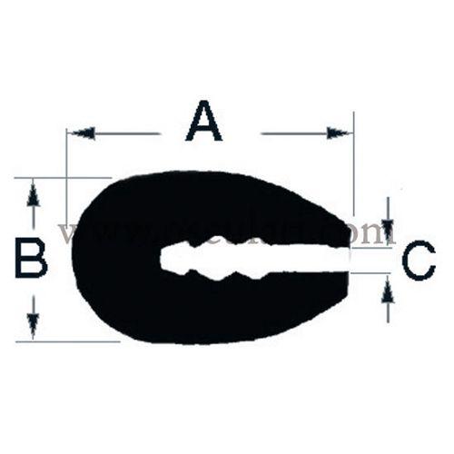 Profili za obrubljivanje stakloplastike, drva, metala, Osculati 4449201
