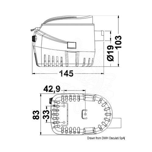 Kaljužna automatska pumpa Europump II G750, Osculati 16.124.03