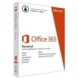 RETAIL Office 365Personal   (1 Year) English