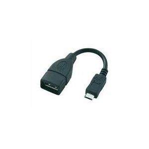 USB A-B Micro kabel 10CM,A Female-Micro 5pin Male RETAIL