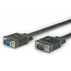 VGA kabel M-M, crni, 10m