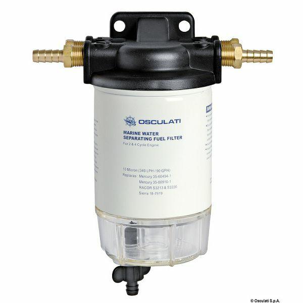 Filter separator voda/gorivo, za benzin, s držačem, univerzalni, Osculati 1766400