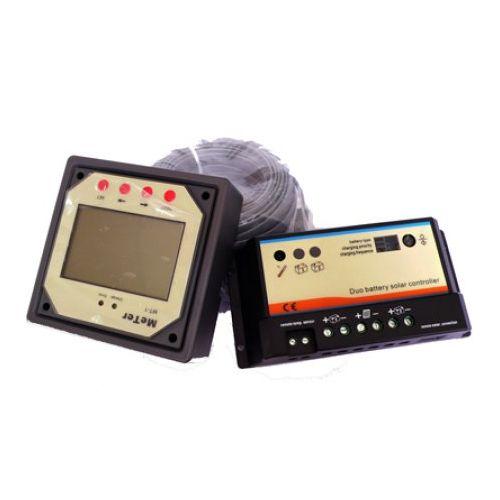 Dual battery 10A, 12/24V Solar Regulator sa LCD displeom
