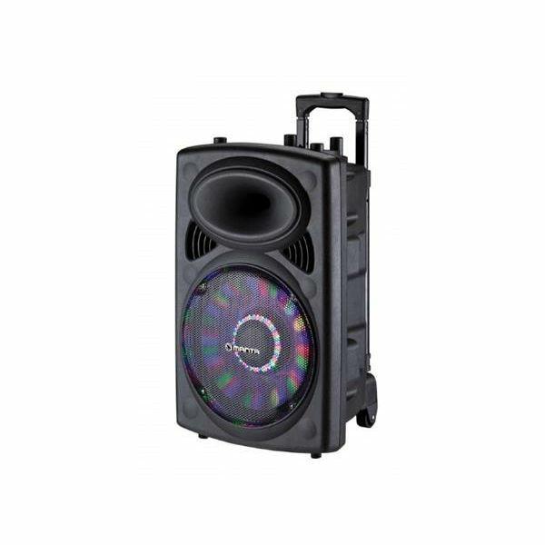 MANTA prijenosni zvučnik-karaoke set SPK5004 , FM, pojačalo, utor za gitaru, mikrofon, baterija
