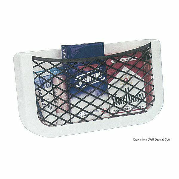 Nosač s elastičnom mrežicom za držanje predmeta i dokumenata, Osculati 48.434.01