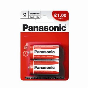 PANASONIC baterije R14RZ/2BP EU Zinc Carbon