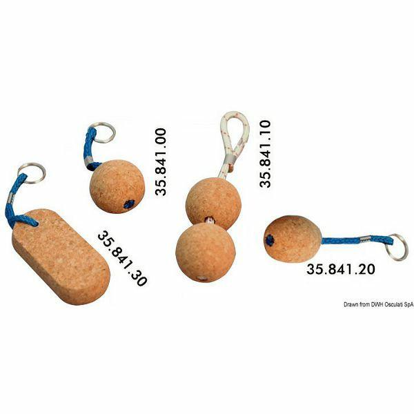 Privjesak za ključeve od pluta, oblik loptice