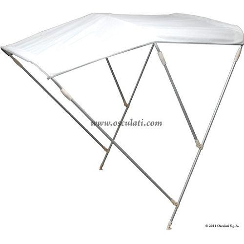 Tenda sklopiva 3 luka, visoka, bijela, 140-150cm, Osculati 4690940