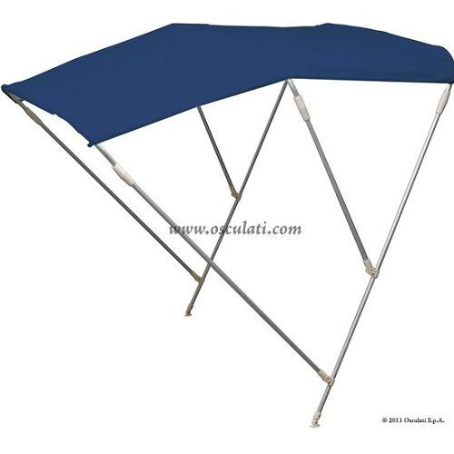 Tenda sklopiva 3 luka, visoka, plava, 200-210cm, Osculati 4690953